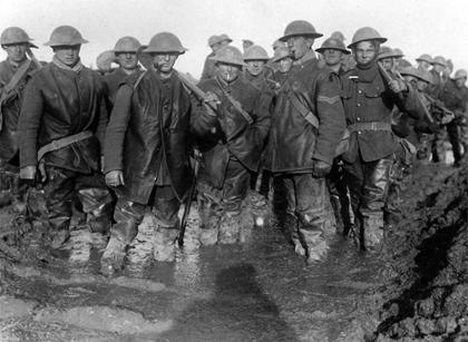 Photo of WW I troops