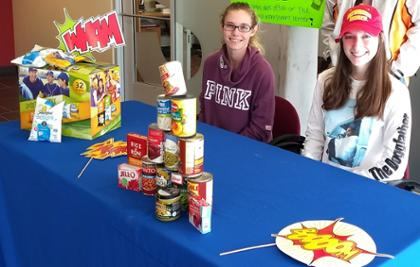 Students collecting goods